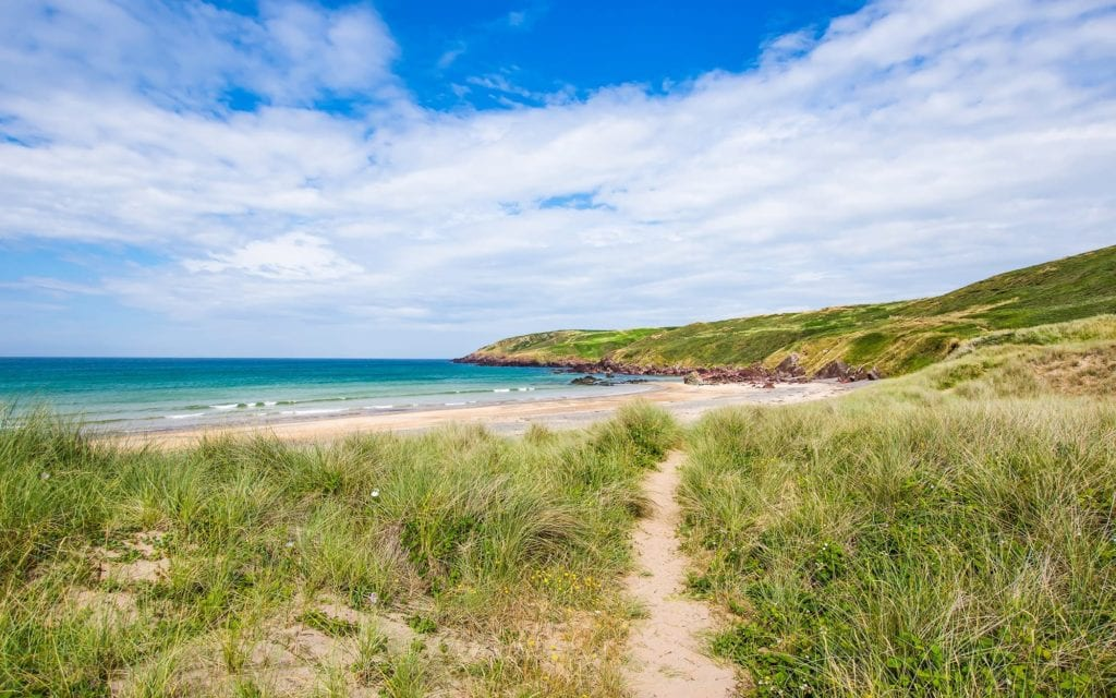 Freshwater West Pembrokeshire Beaches Sand Dunes Wales UK