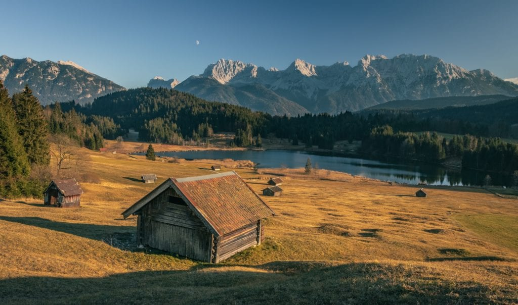 Mountain huts in Bavaria
