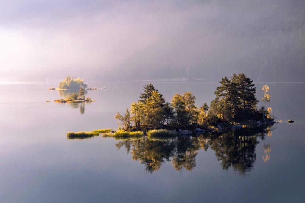 Germany Bavaria Lake Island