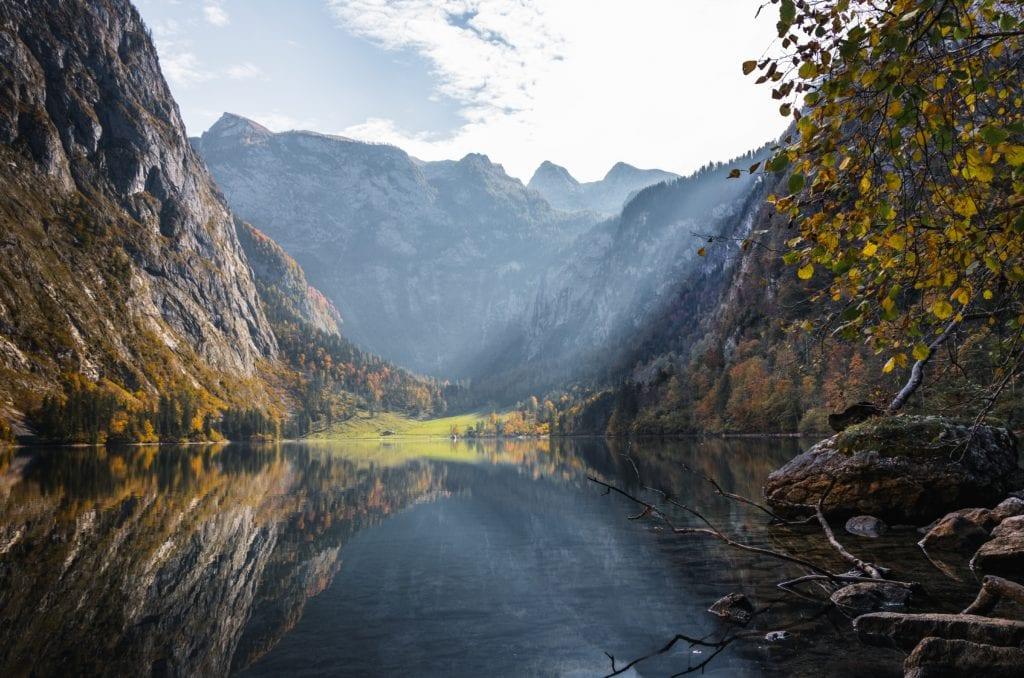 Bavaria mountains and lake