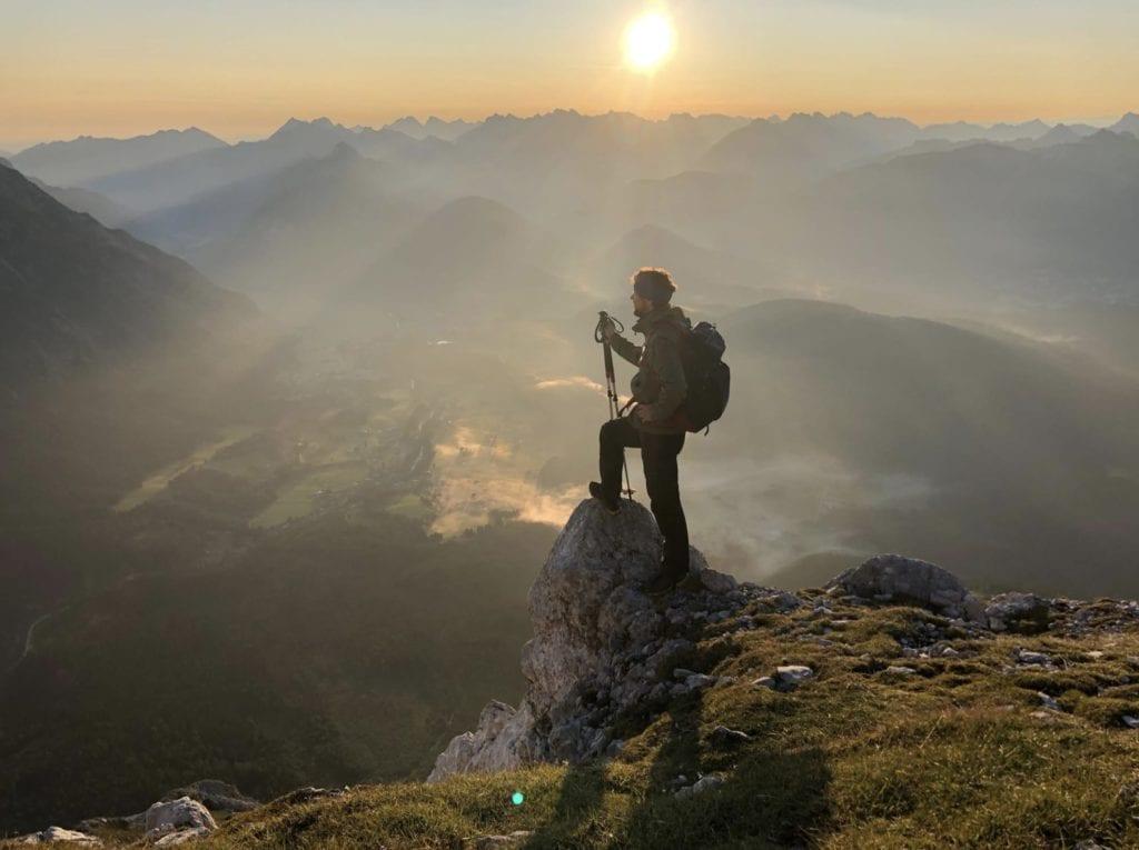 Germany Bavarian Alps Hiker