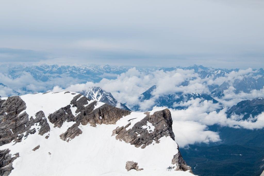 Snowy peaks in Germany