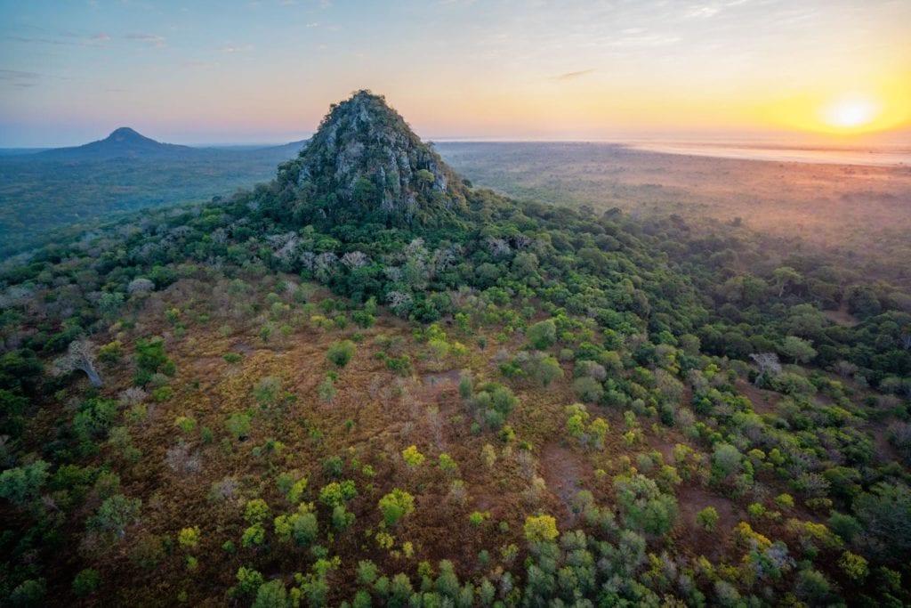 gorongosa national park aerial view