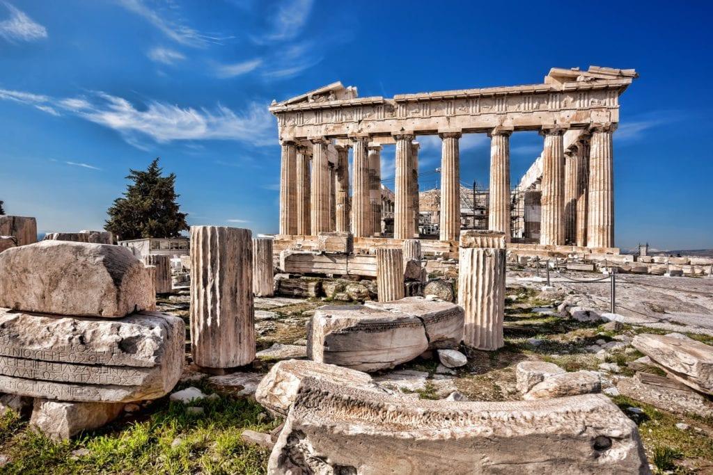 Greek ruins in Athens