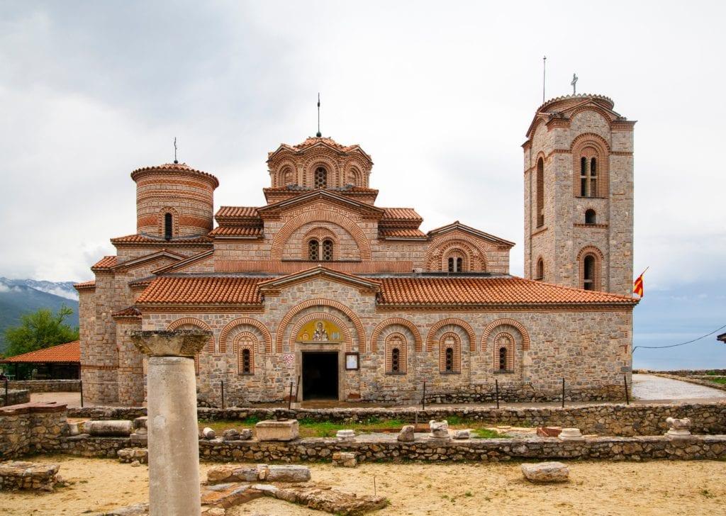 Exterior of Greek monastery