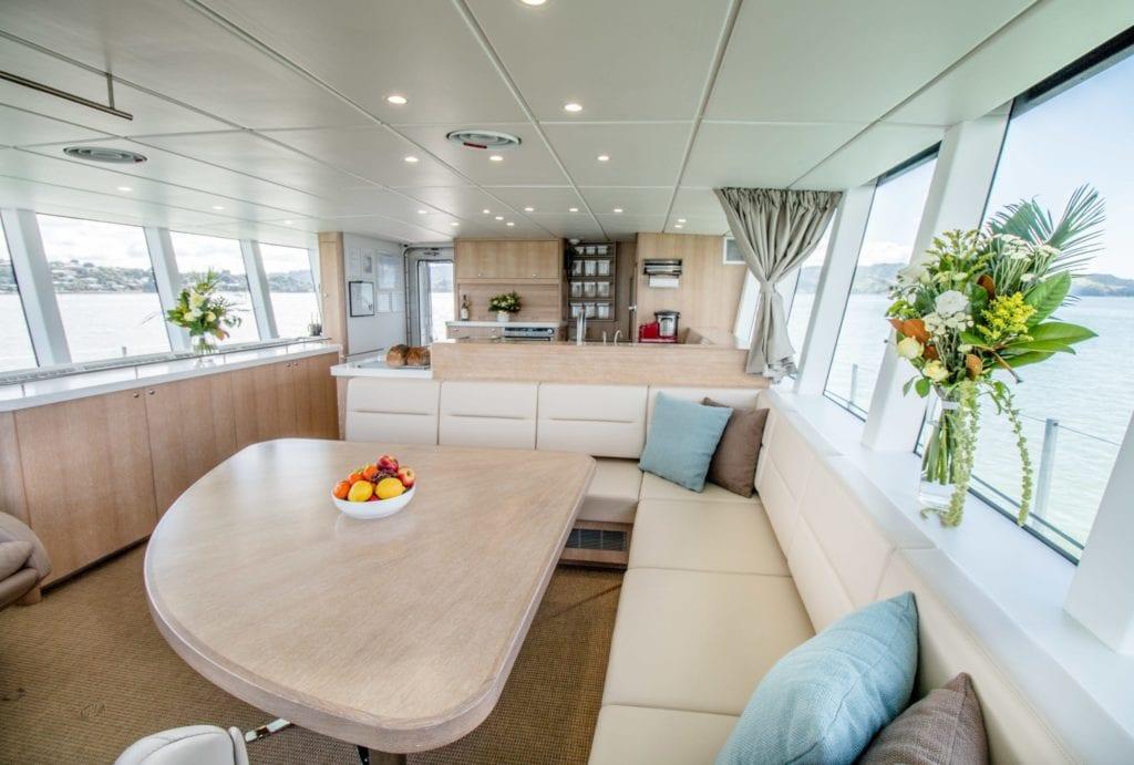 Grey Wolf Yacht dining area