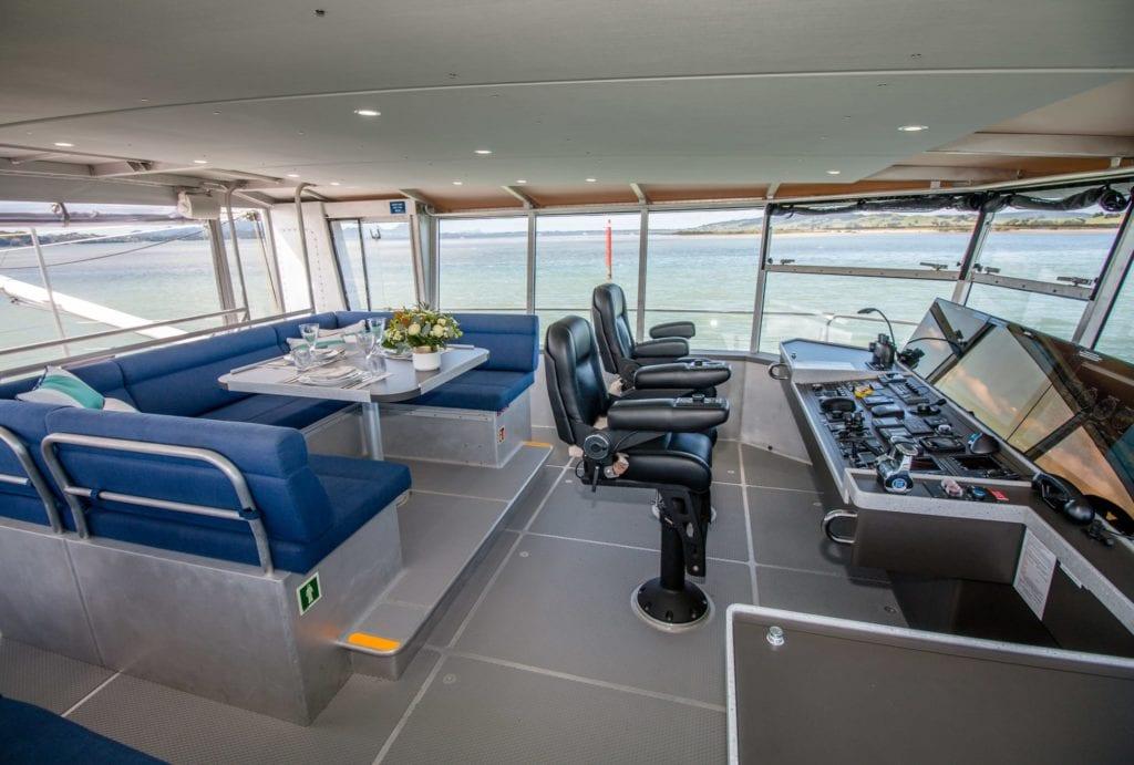 Grey Wolf Yacht interior seating