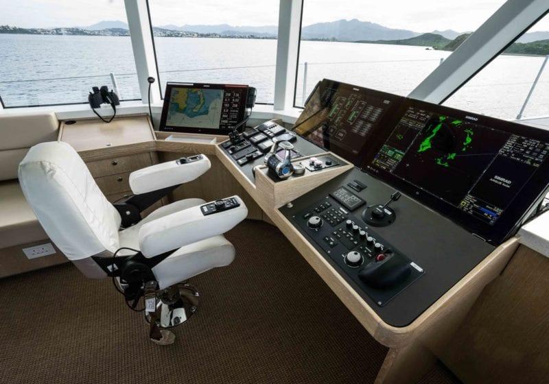 grey wolf yacht interior bridge