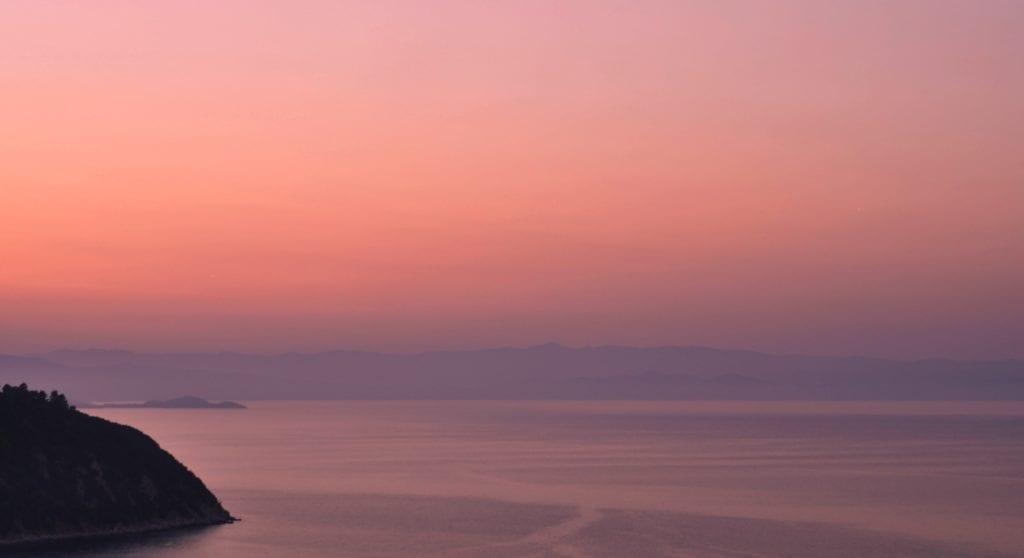 Sunset in Halkidiki Greece