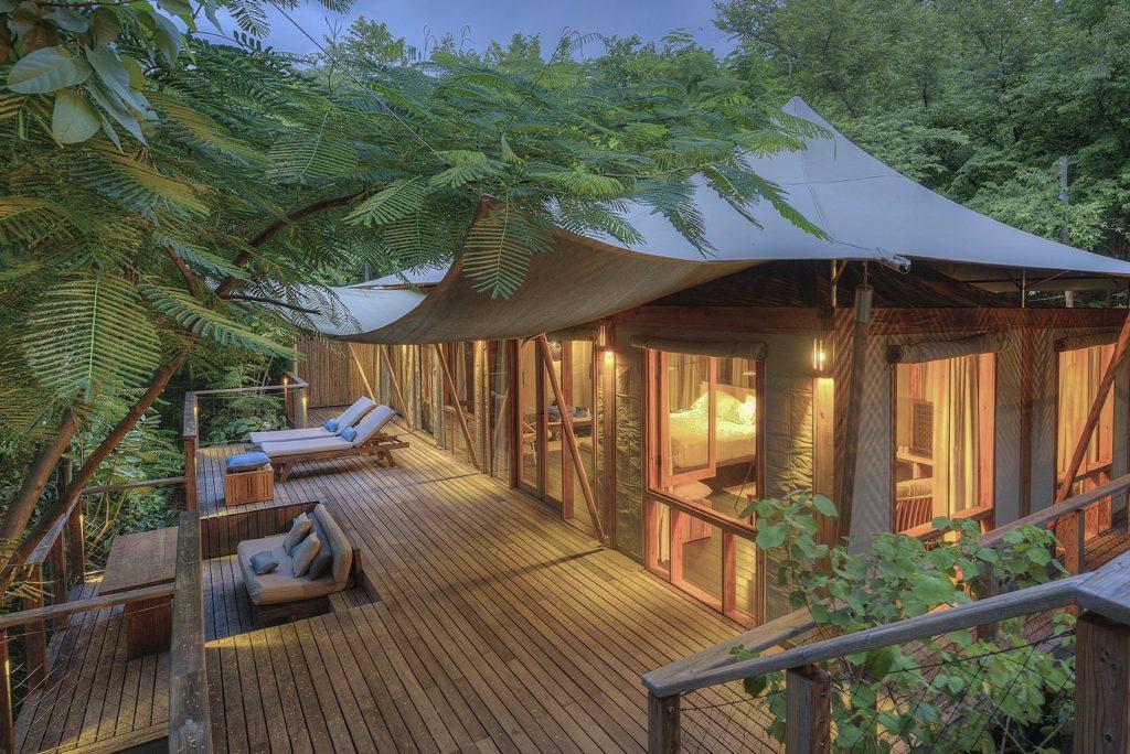 tented suite at dusk kasiiya papagayo