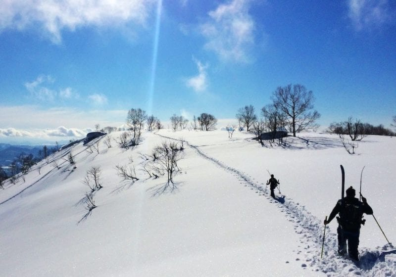 Hiking the Japanese backcountry to find the best powder
