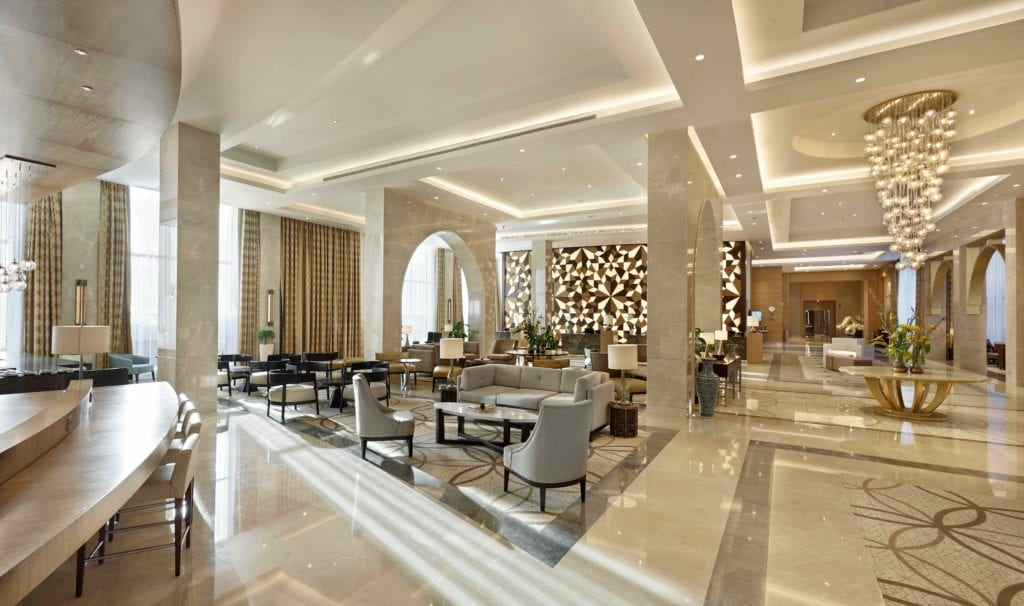 hyatt regency tashkent lobby interior