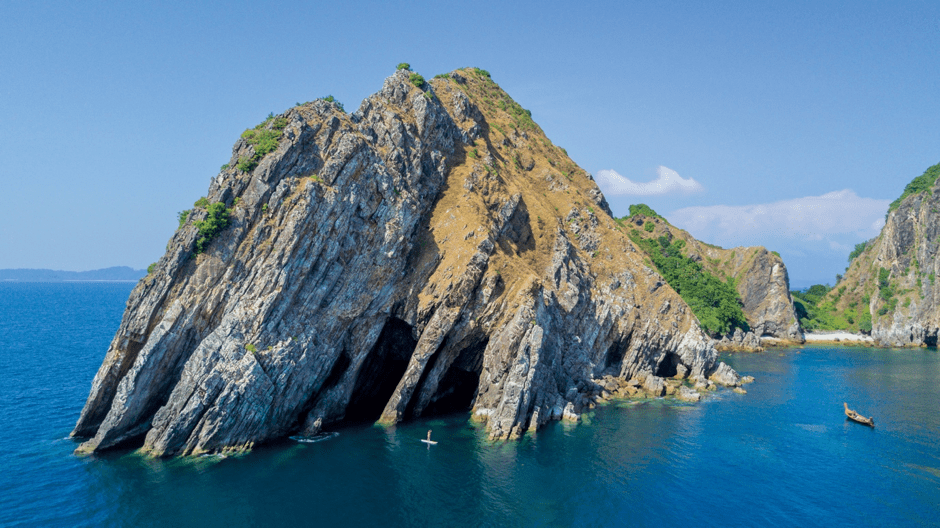 Rock formation at sea Indochina