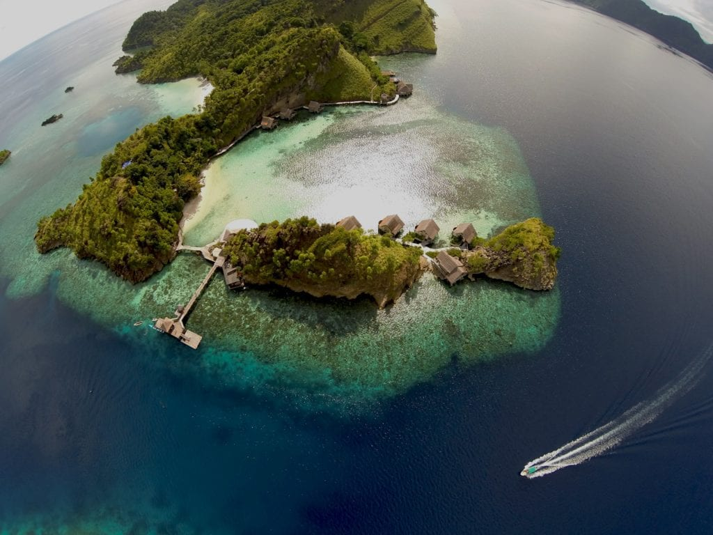 Indonesia Misool aerial of island