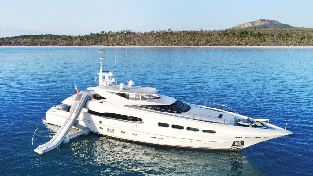 Infinity Pacific yacht exterior