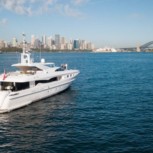 Infinity Pacific Yacht by Sydney Harbour