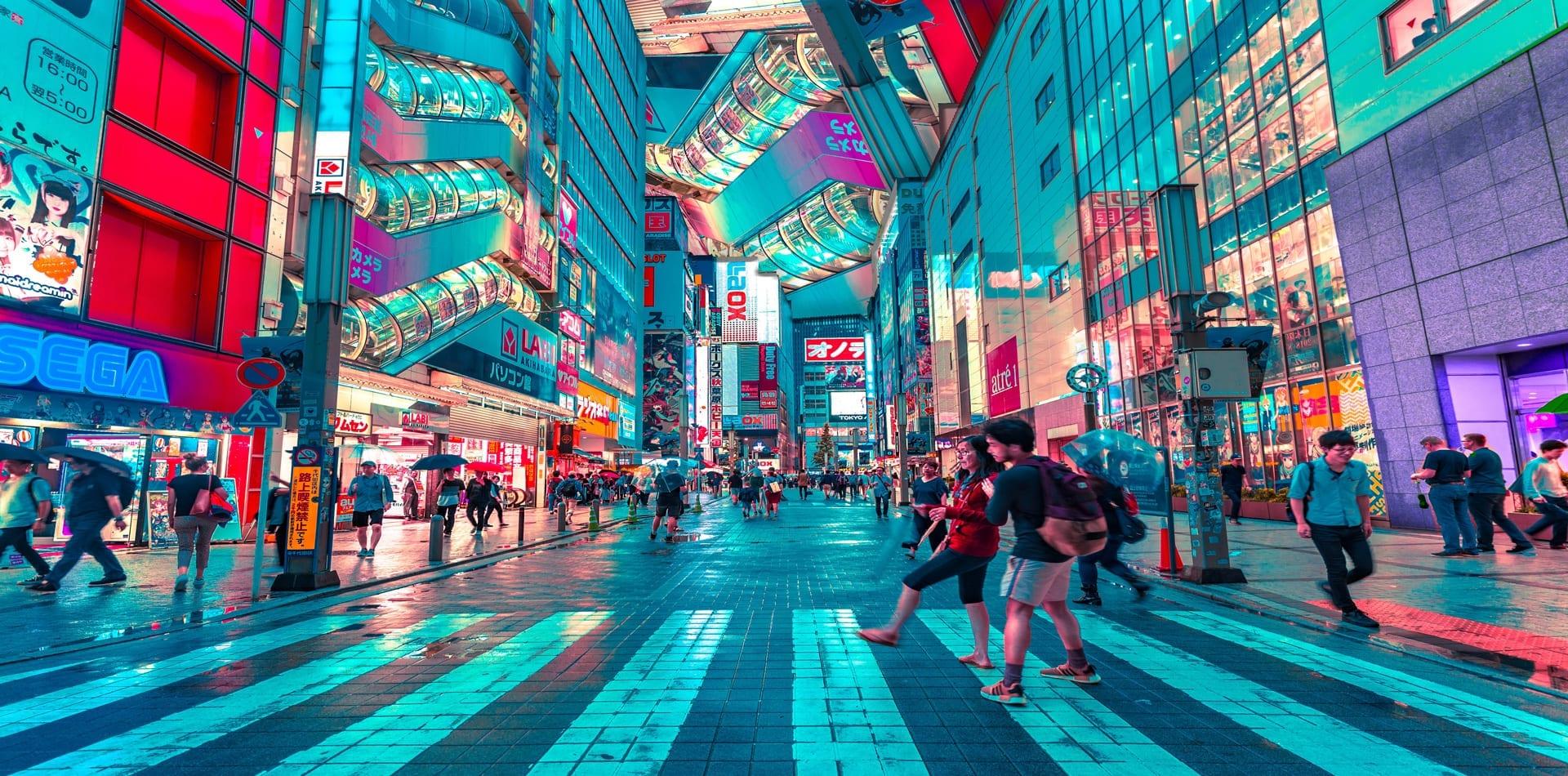 Japan Tokyo city streets