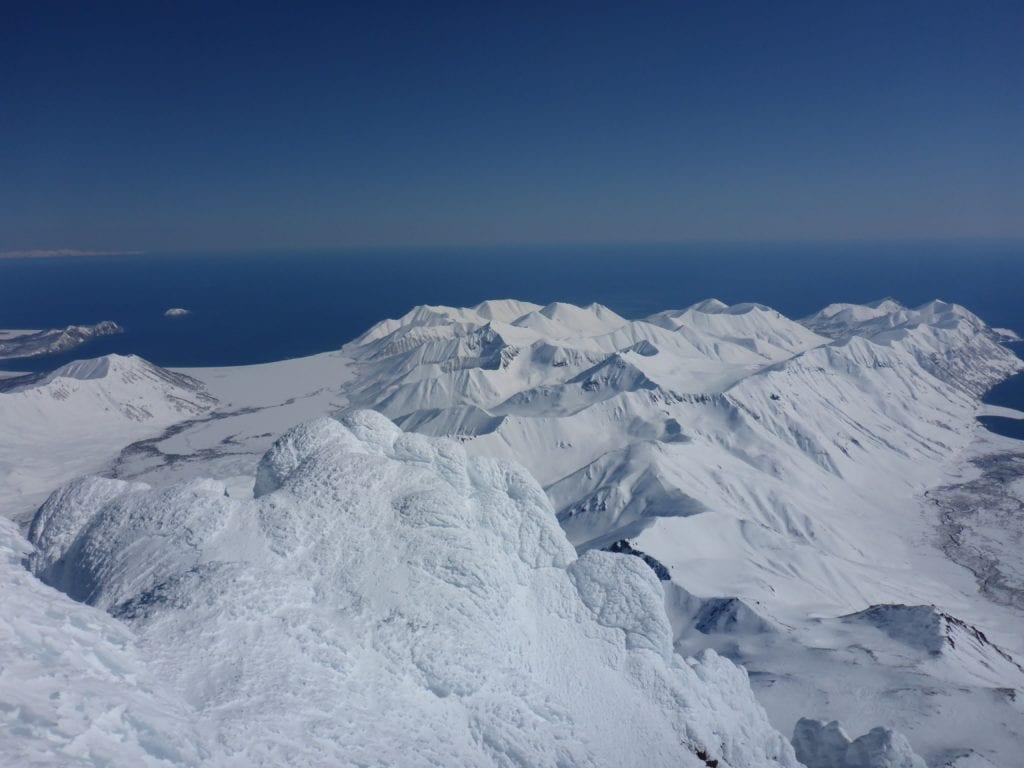 Kamchatka Russia Skiing Volcano Landscape