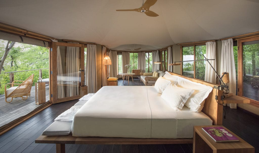 tented suite bedroom kasiiya papagayo