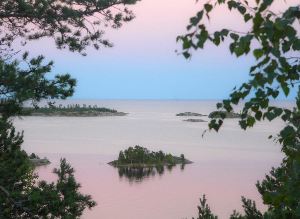 Lake Ladoga at Dusk