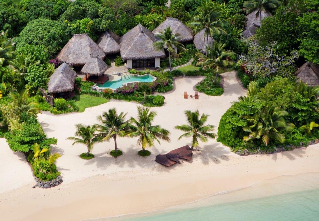 laucala island aerial villa view