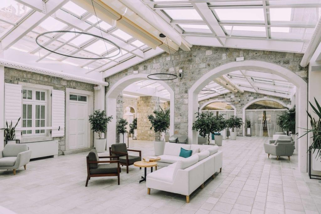 lazure hotel lobby montenegro