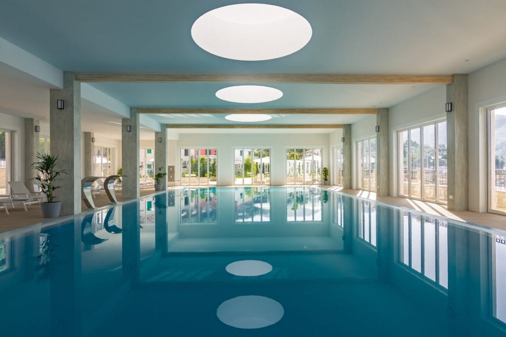 indoor swimming pool lazure hotel montenegro