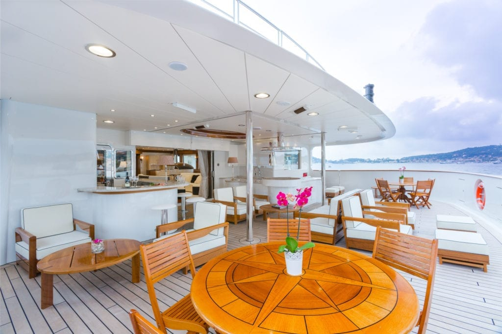 Exterior Deck on Legend Yacht