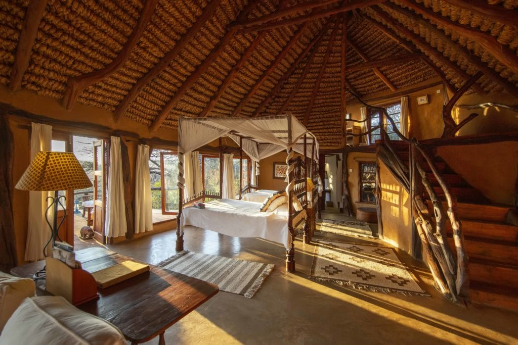 lewa wilderness suite interior kenya