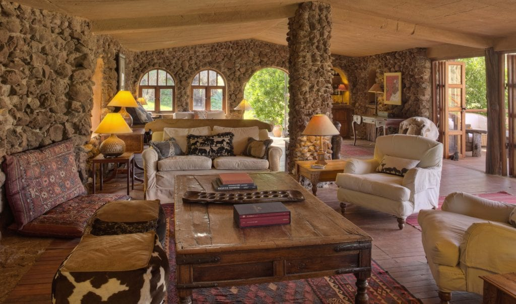 lewa wilderness lounge area kenya