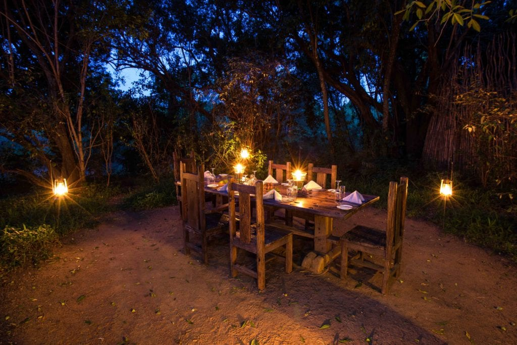 outdoor dining table mara expedition camp