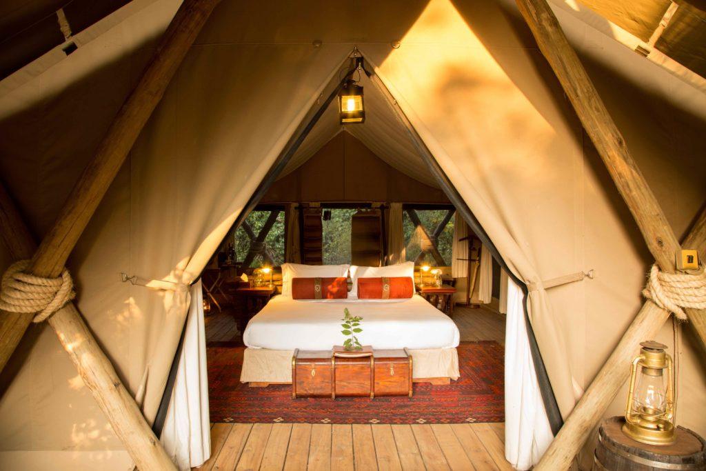 mara expedition camp tent interior kenya