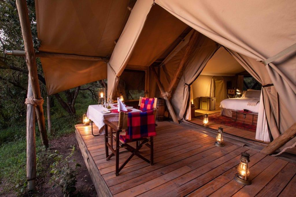 tent exterior mara expedition camp kenya