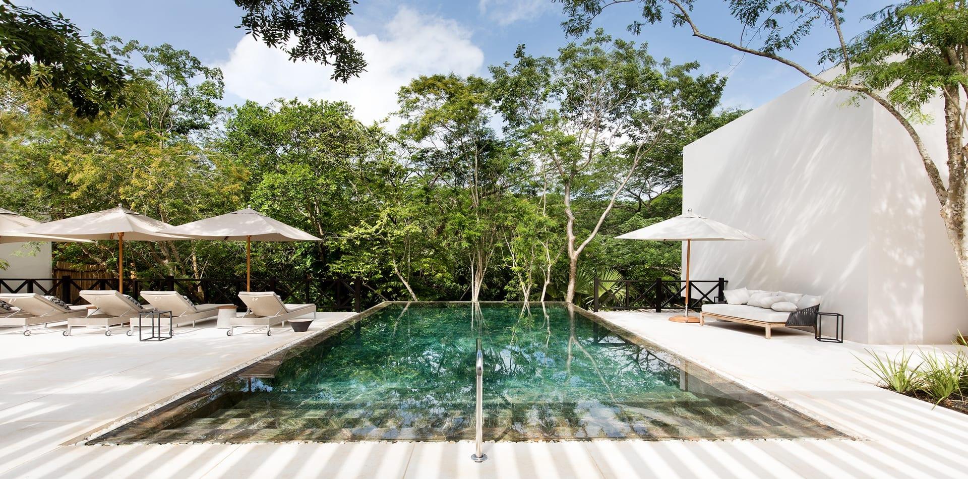 Mexico Yucatan Chable Hotel Pool