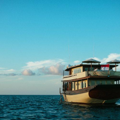 Exterior shot of Mischief Yacht