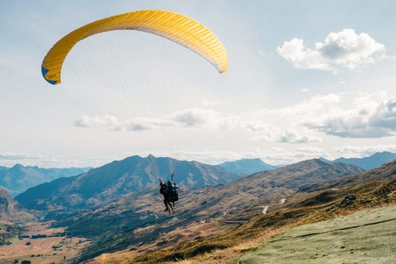 Paraglide and take in New Zealand's beauty from above