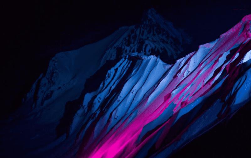 Night skiing through Alaskan Wilderness, British Columbia