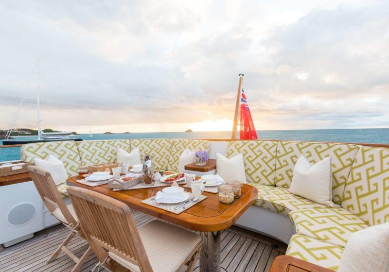 Ocean's Seven Yacht Exterior Dining