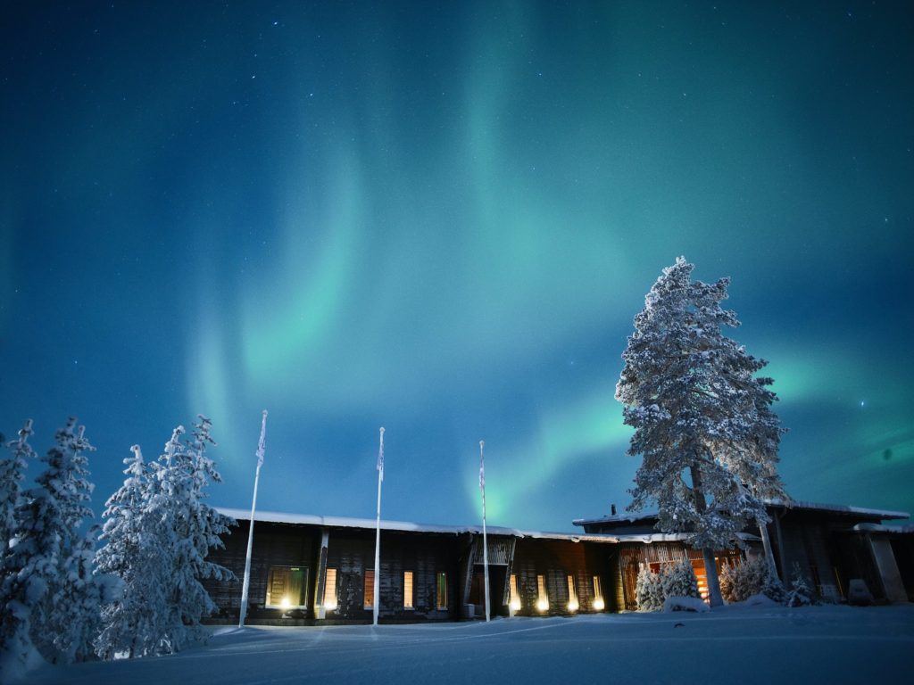 northern lights octola exterior finland