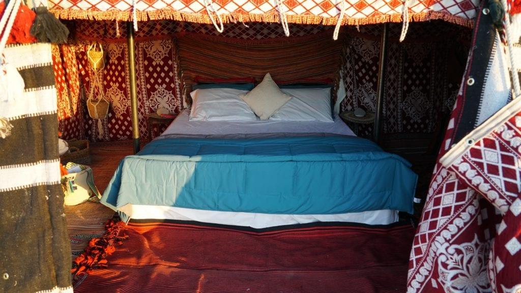 Oman Empty Quarter Bedu Camp bedroom interior