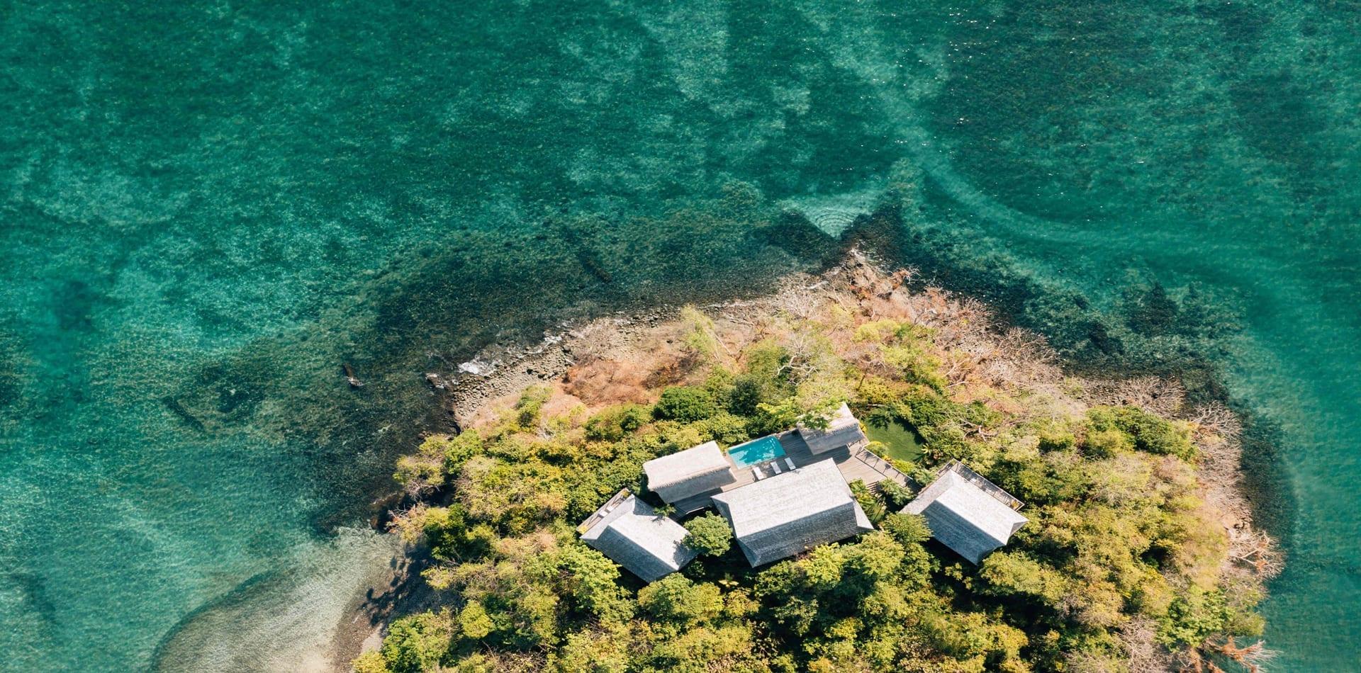 HERO Panama Isla Secas Aerial View