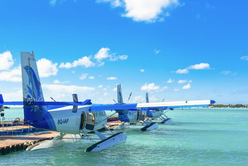 Sea plane in Tahiti