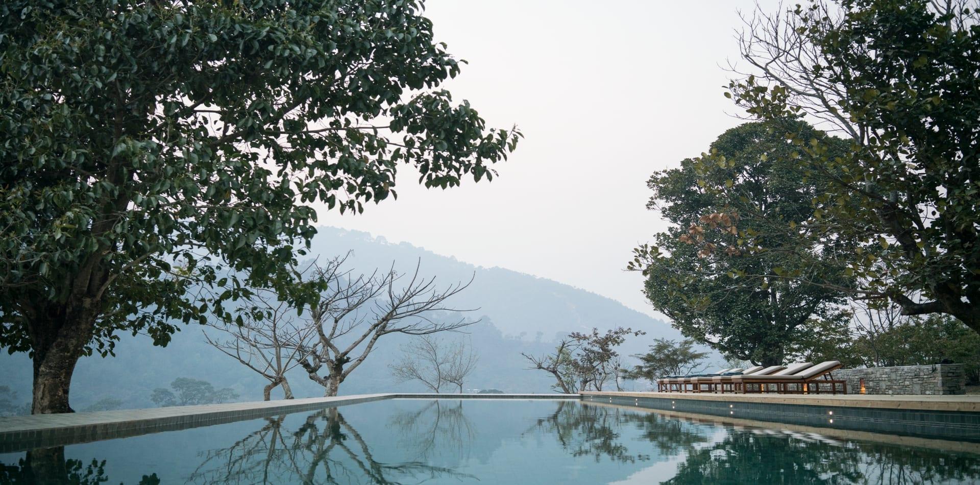 HERO-Punakha Amankora Infinity Pool Landcsape