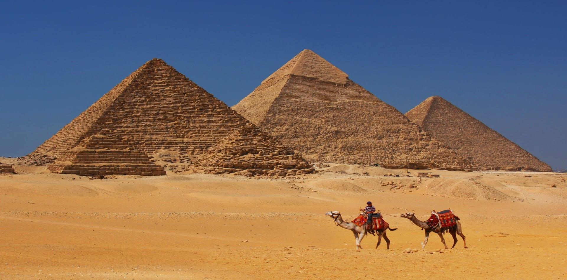 Pyramids landscape in Egypt