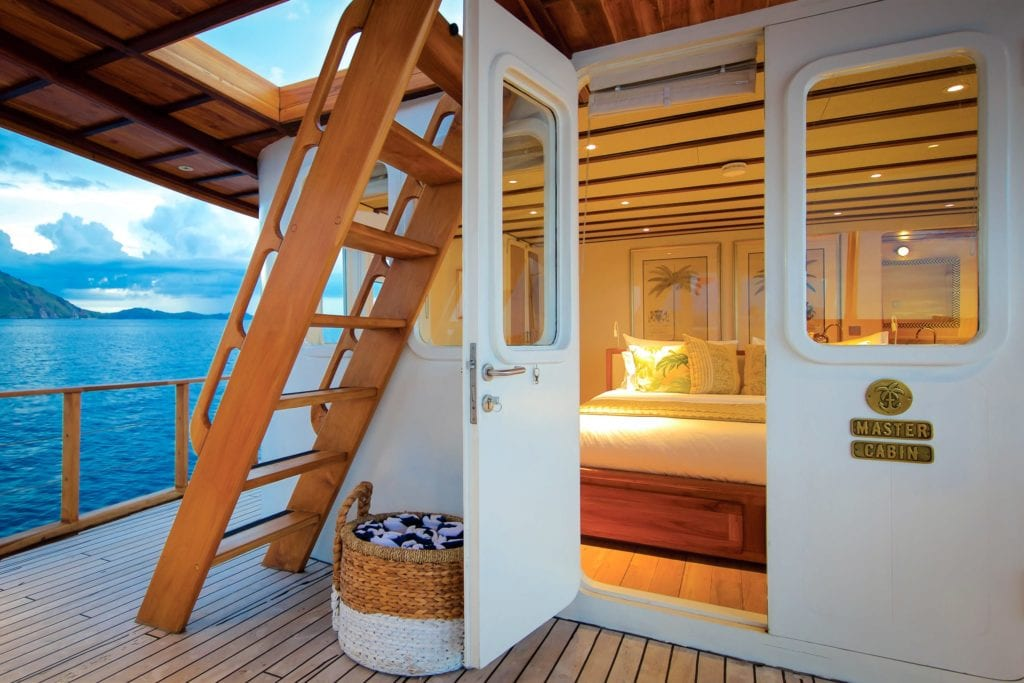 Looking in to the Master Cabin on Rascal Yacht