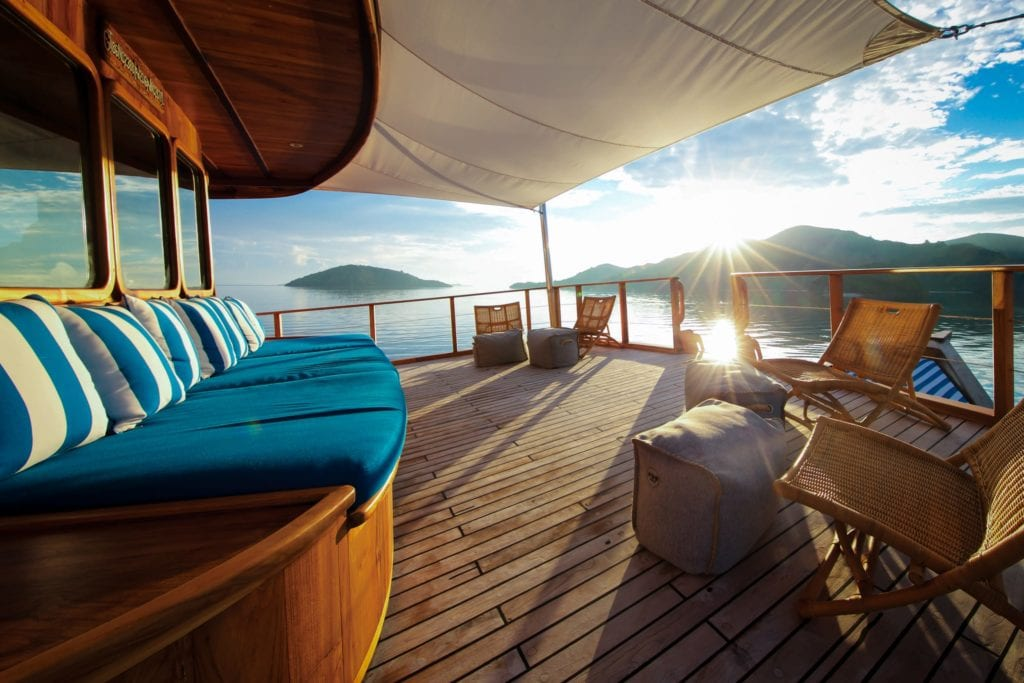 Exterior Lounge on board Rascal Yacht