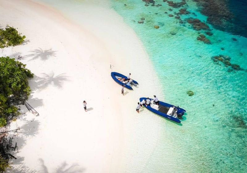 Tenders to Rascal Yacht on a Beach