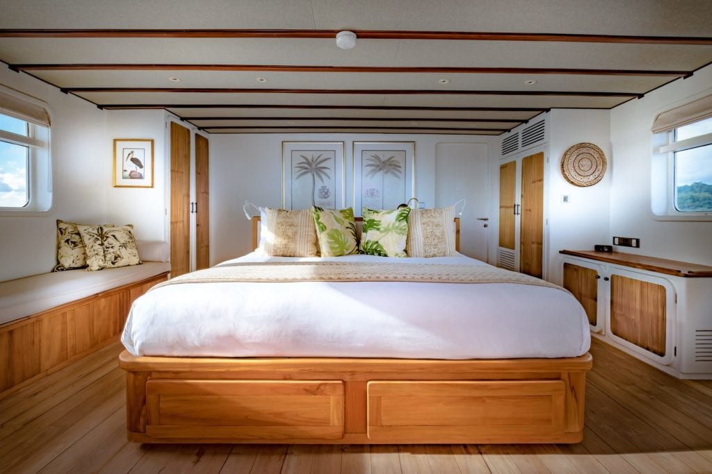 Master Suite on Rascal Yacht