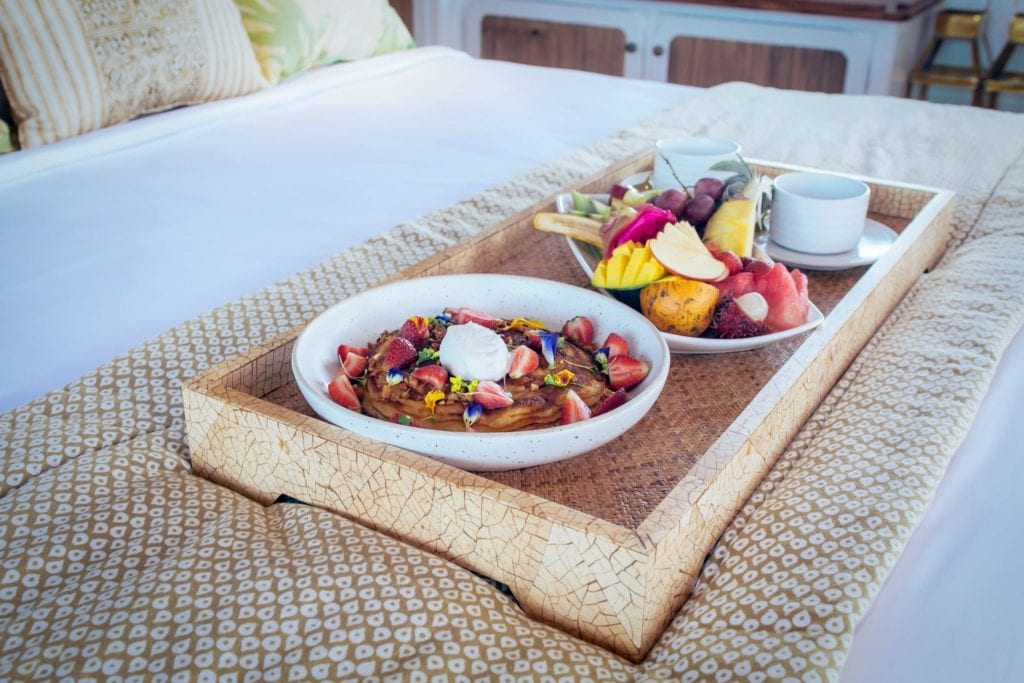 Breakfast in Bed on Rascal Yacht