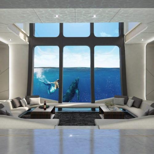 RIMOR X Mermaid Lounge with Underwater Views Yacht
